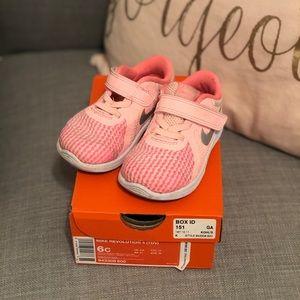 Nike pink revolution sneakers 6